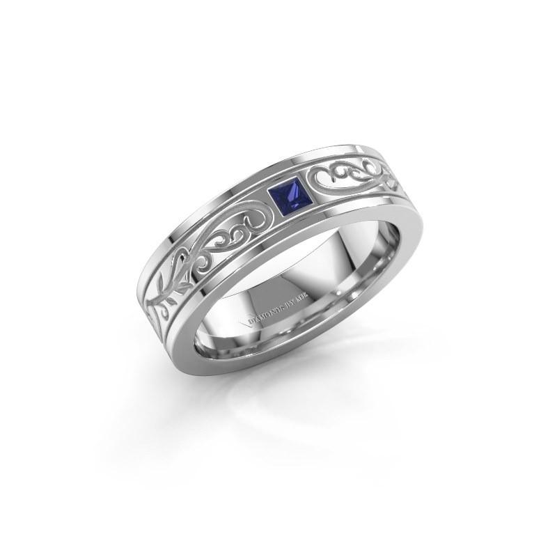 Men's ring Matijs 950 platinum sapphire 3 mm