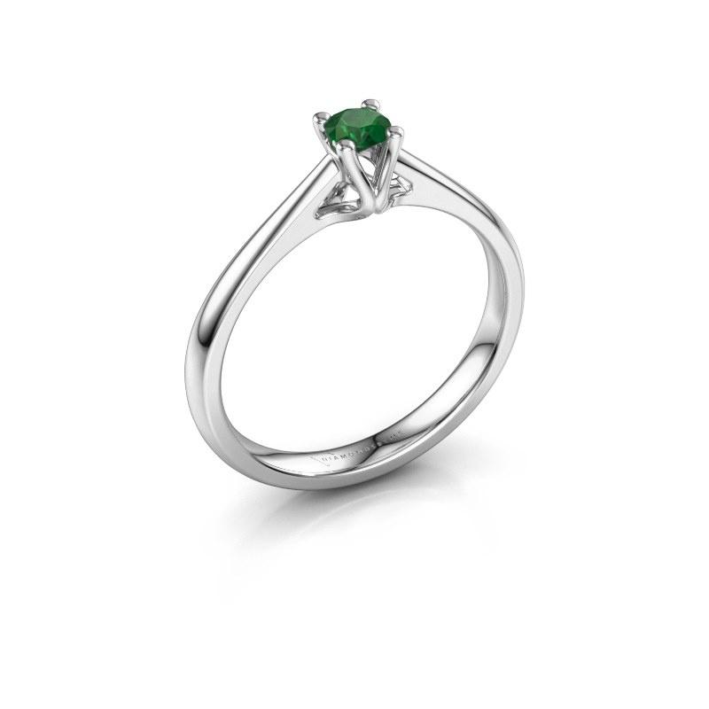 Verlobungsring Janna 1 925 Silber Smaragd 3.4 mm
