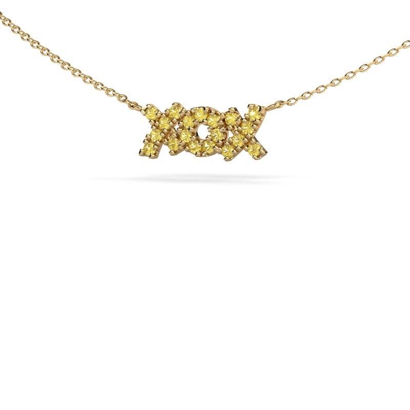 Ketting XoX 375 goud gele saffier 1.5 mm