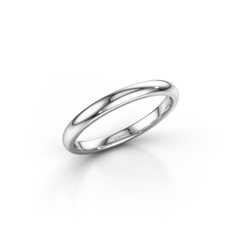Stackable ring SR30B4 585 white gold