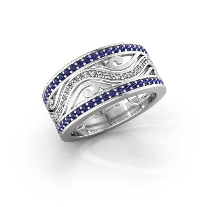 Ring Louvenia 925 zilver saffier 1.2 mm