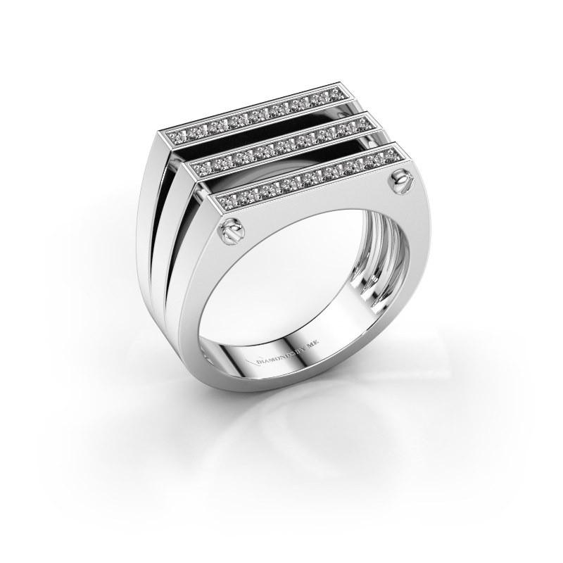 Herrenring Jauke 950 Platin Diamant 0.48 crt