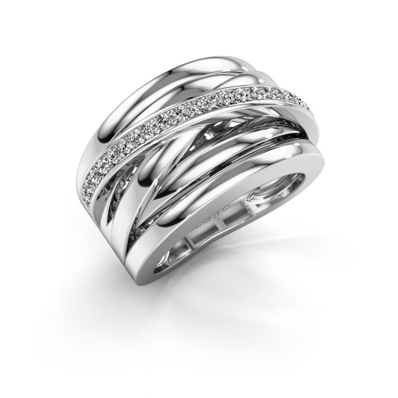 Ring Clair 1 585 witgoud lab-grown diamant 0.315 crt