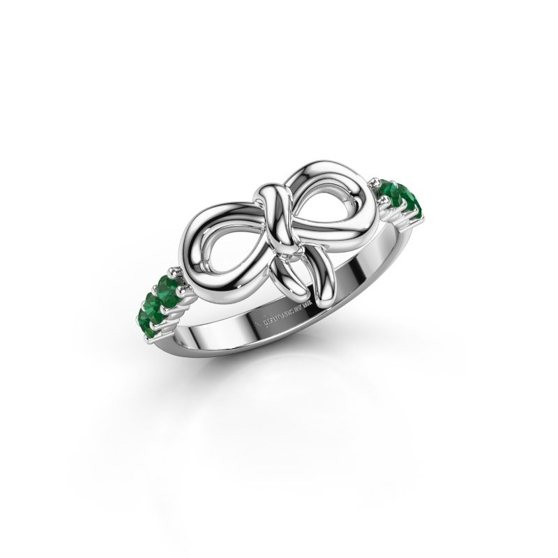 Ring Olympia 950 platina smaragd 2.2 mm