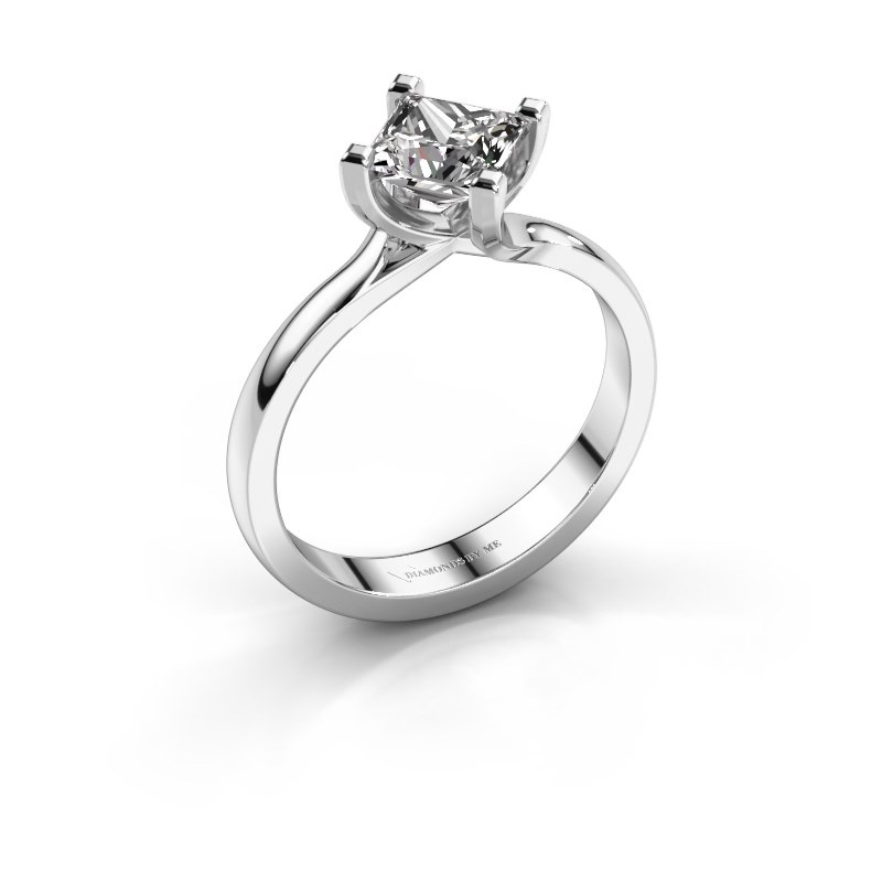 Engagement ring Dewi Square 925 silver diamond 1.00 crt