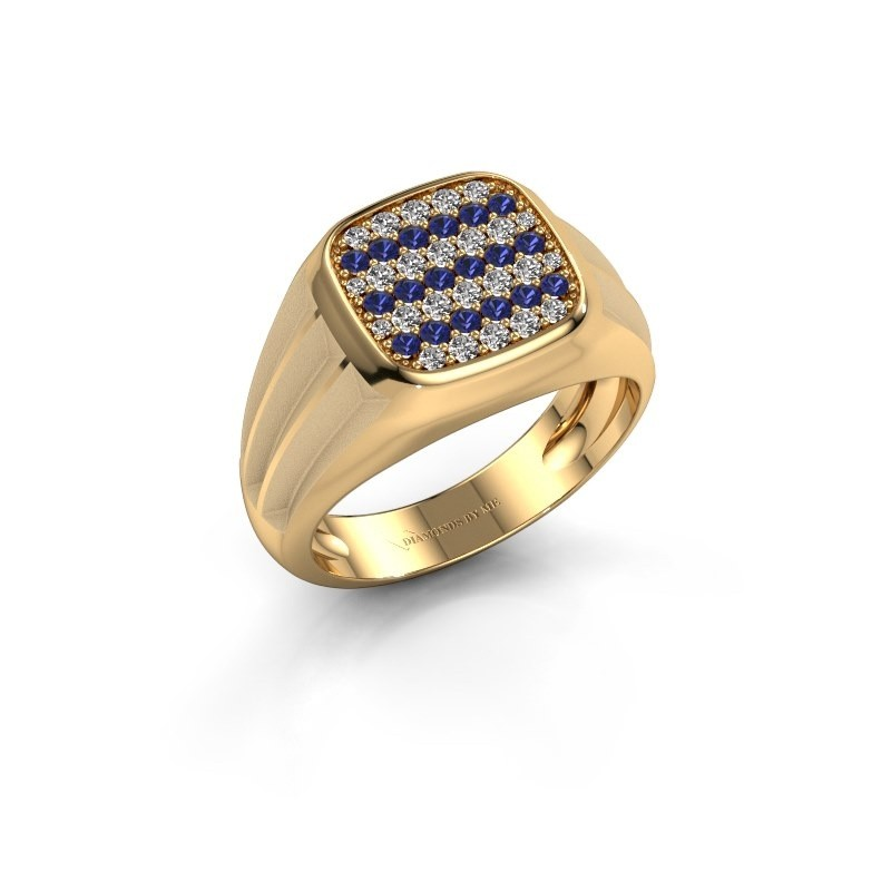 Pinky ring Robbert 585 gold sapphire 1.4 mm