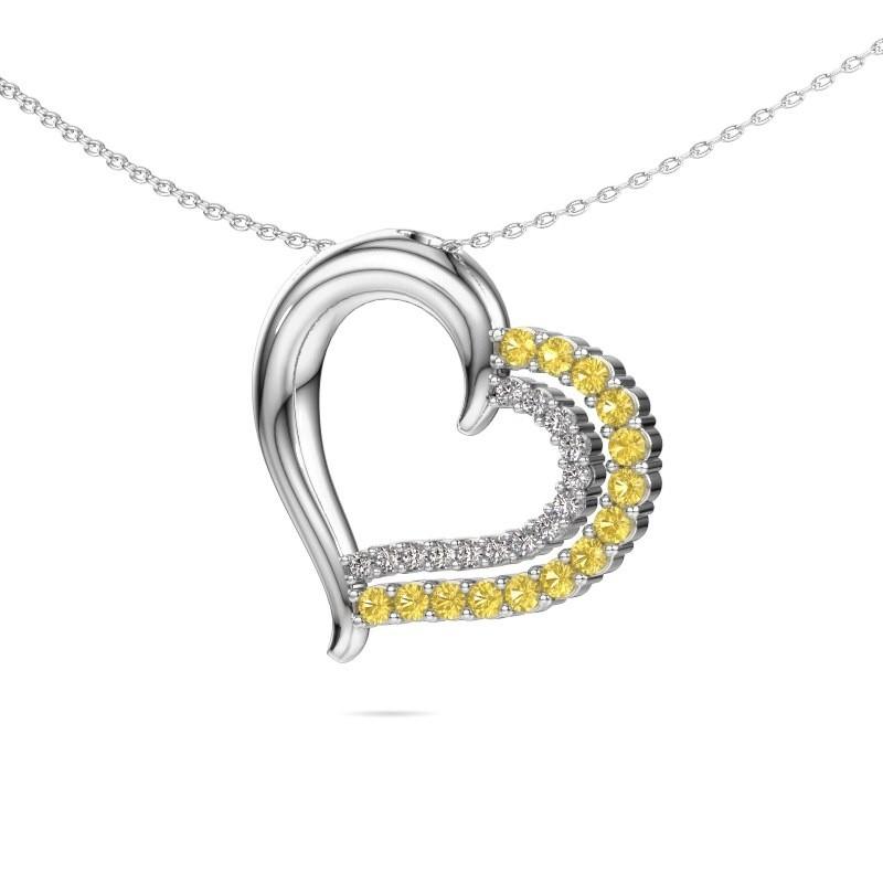 Necklace Kandace 585 white gold yellow sapphire 1.9 mm