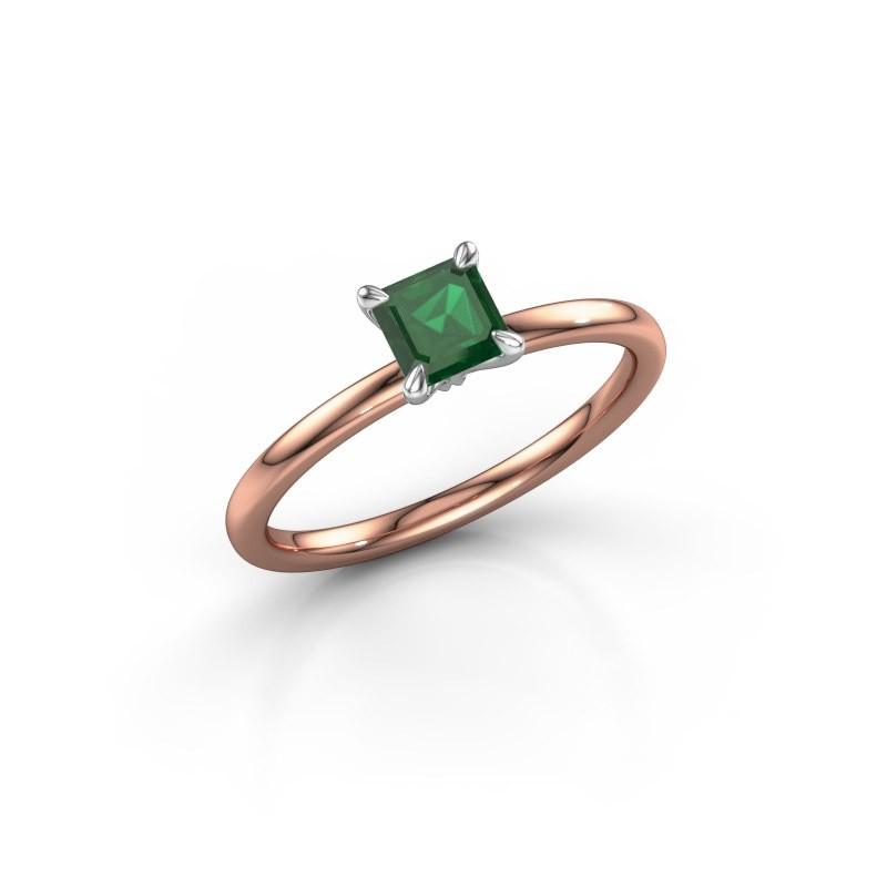 Verlobungsring Crystal ASS 1 585 Roségold Smaragd 5 mm