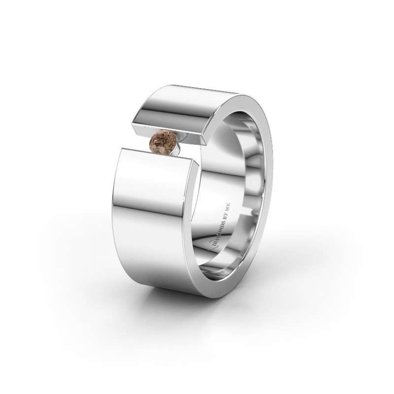 Alliance WH0146L18BP 950 platine diamant brun ±8x2 mm