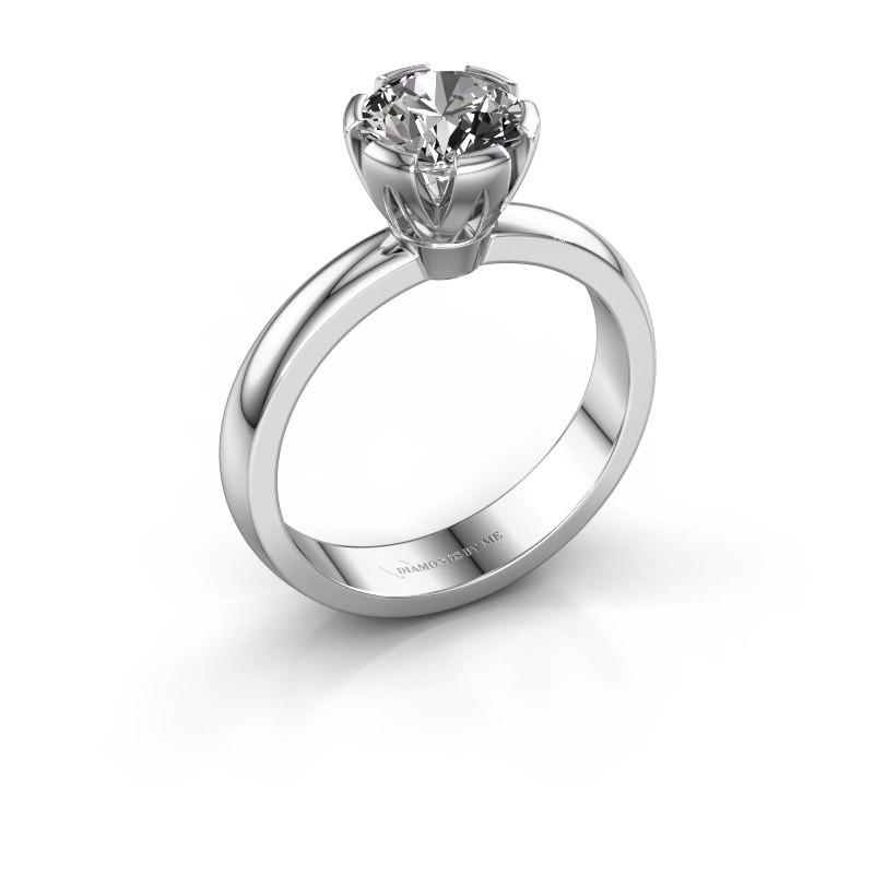 Verlovingsring Julia 585 witgoud diamant 1.00 crt