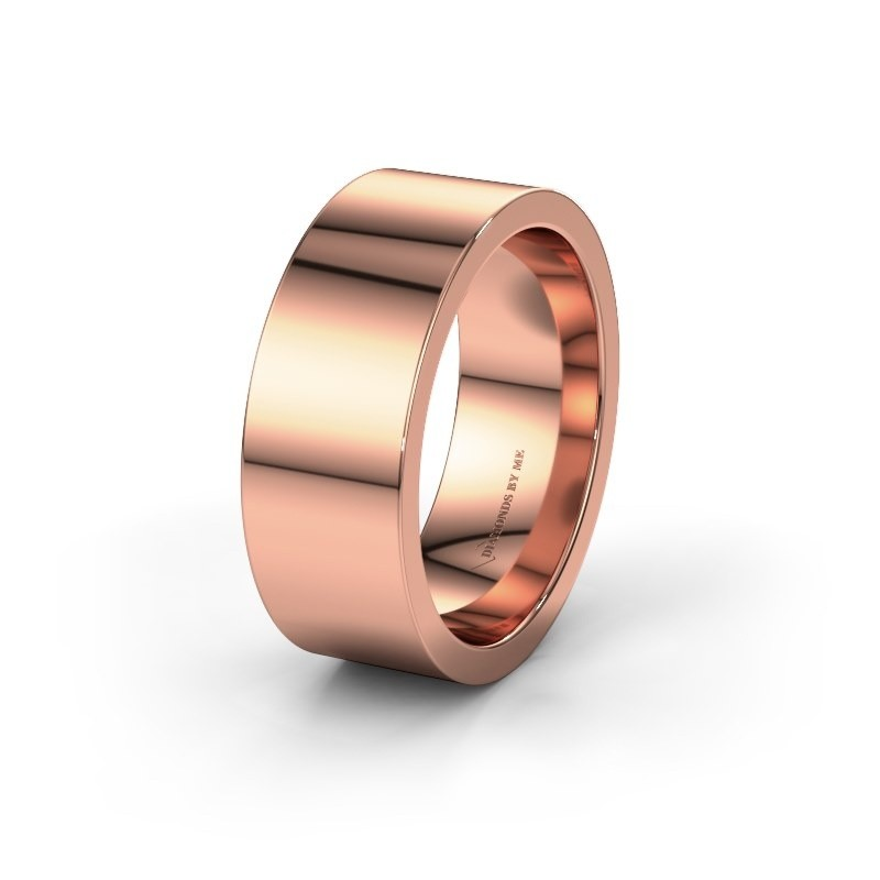Wedding ring WH0100M18BP 375 rose gold ±0.31x0.08 in