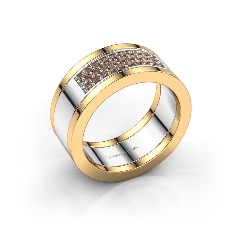 Ring Marita 3 585 witgoud bruine diamant 0.29 crt