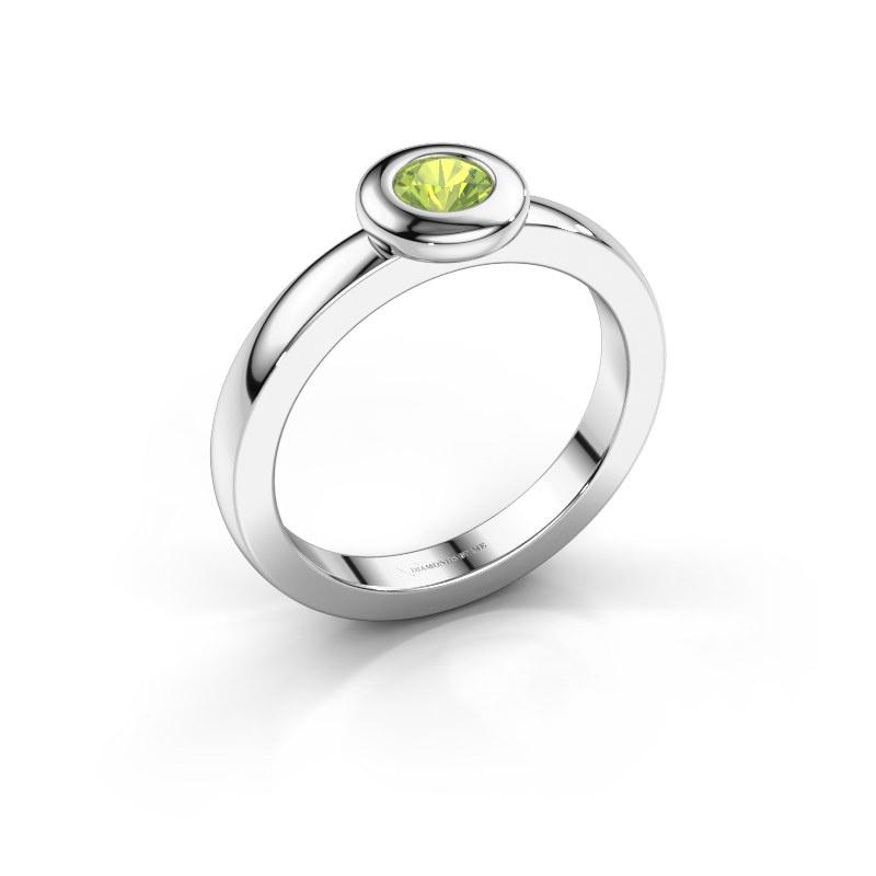 Ring Iris 925 silver peridot 4 mm