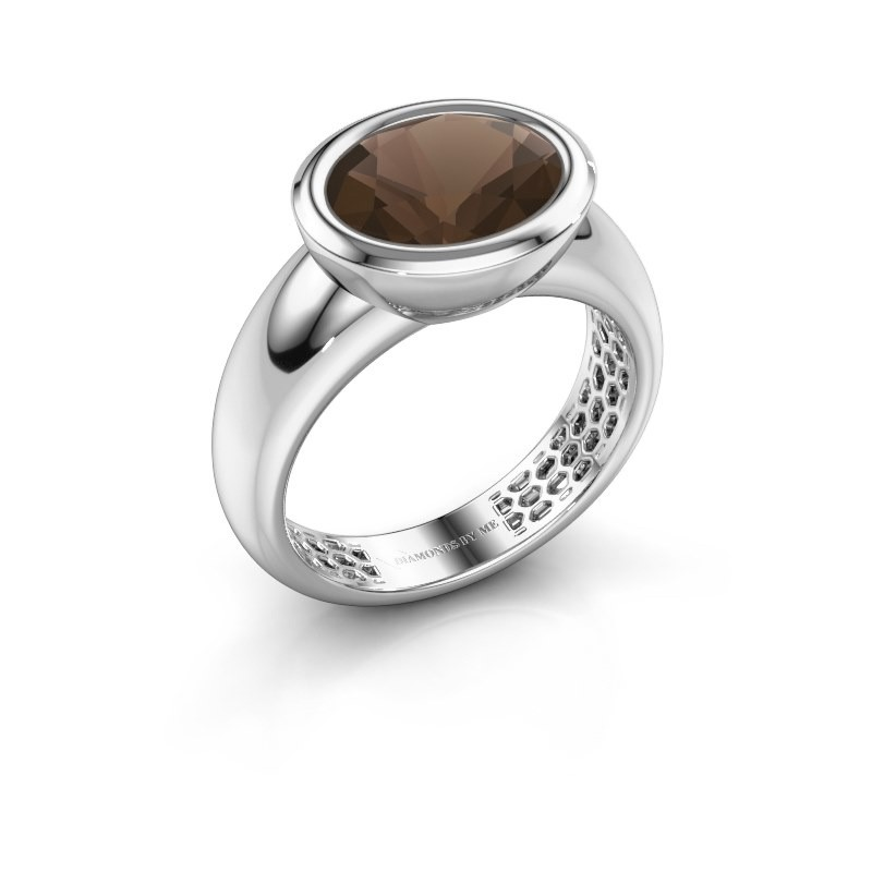 Ring Evelyne 925 zilver rookkwarts 10x8 mm