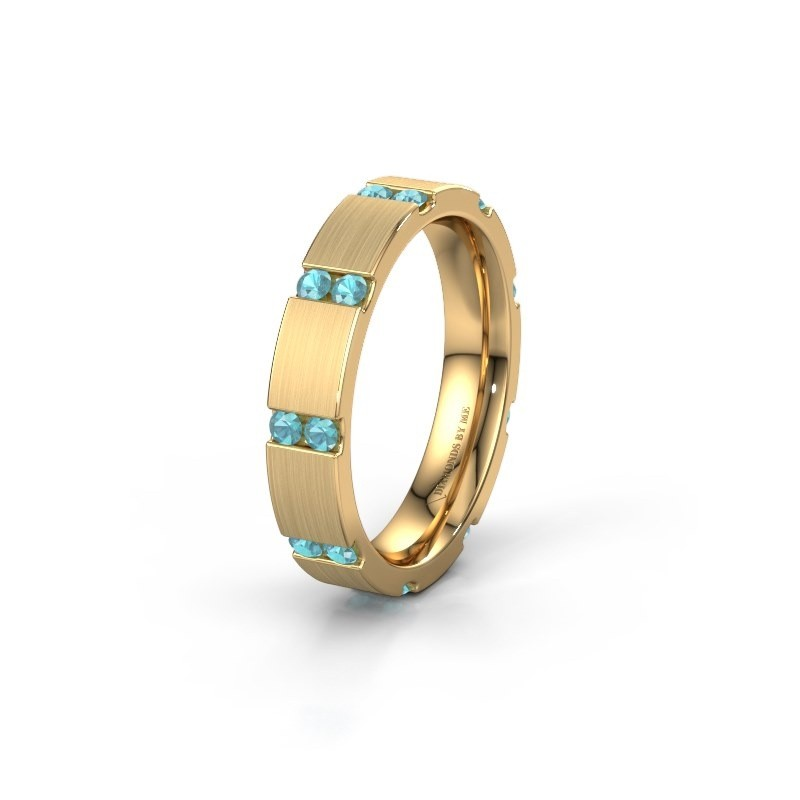 Weddings ring WH2132L14BM 375 gold blue topaz ±4x2.2 mm