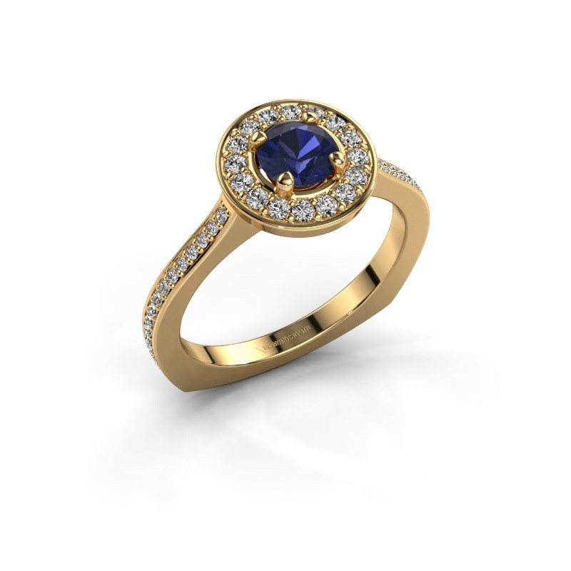 Ring Kanisha 2 585 goud saffier 5 mm