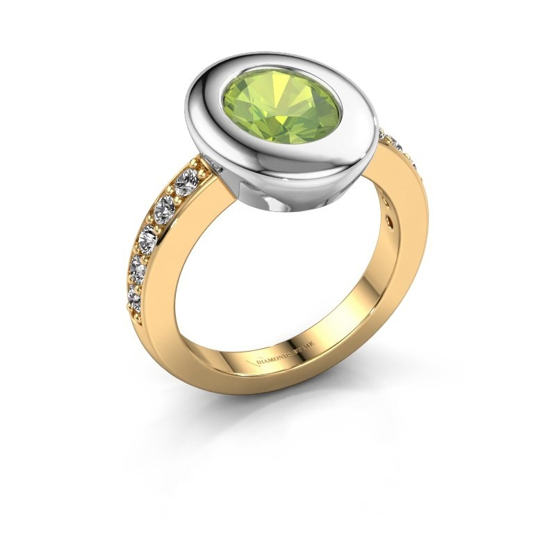 Ring Selene 2 585 gold peridot 9x7 mm