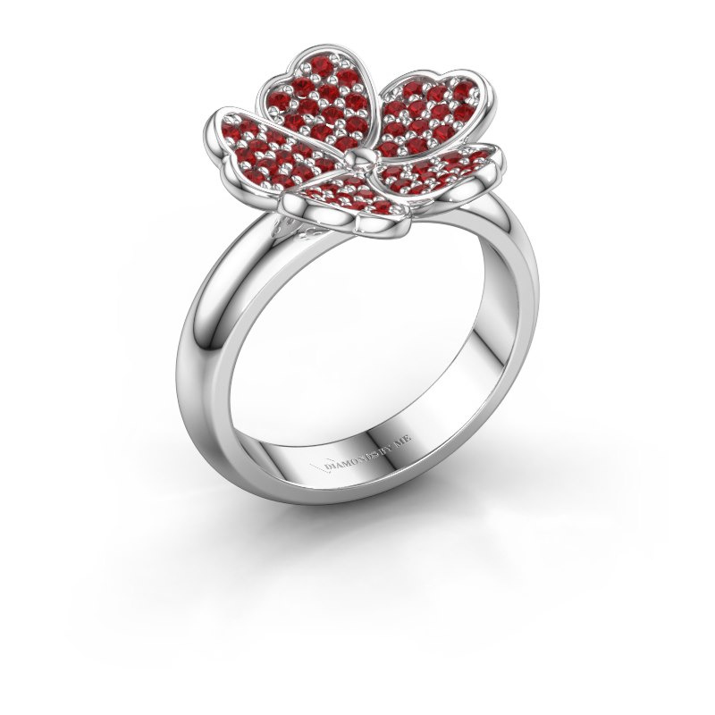 Ring Daphne 925 silver ruby 1.2 mm