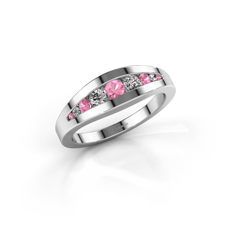 Ring Oneida 585 white gold pink sapphire 3 mm