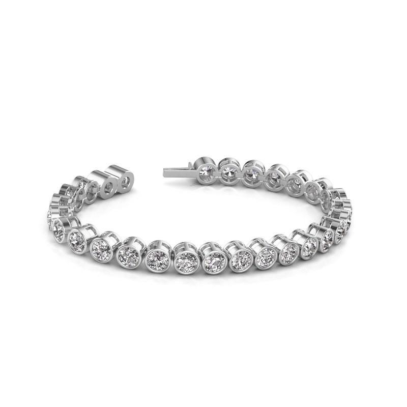 Tennisarmband Mandi 585 witgoud diamant 14.00 crt