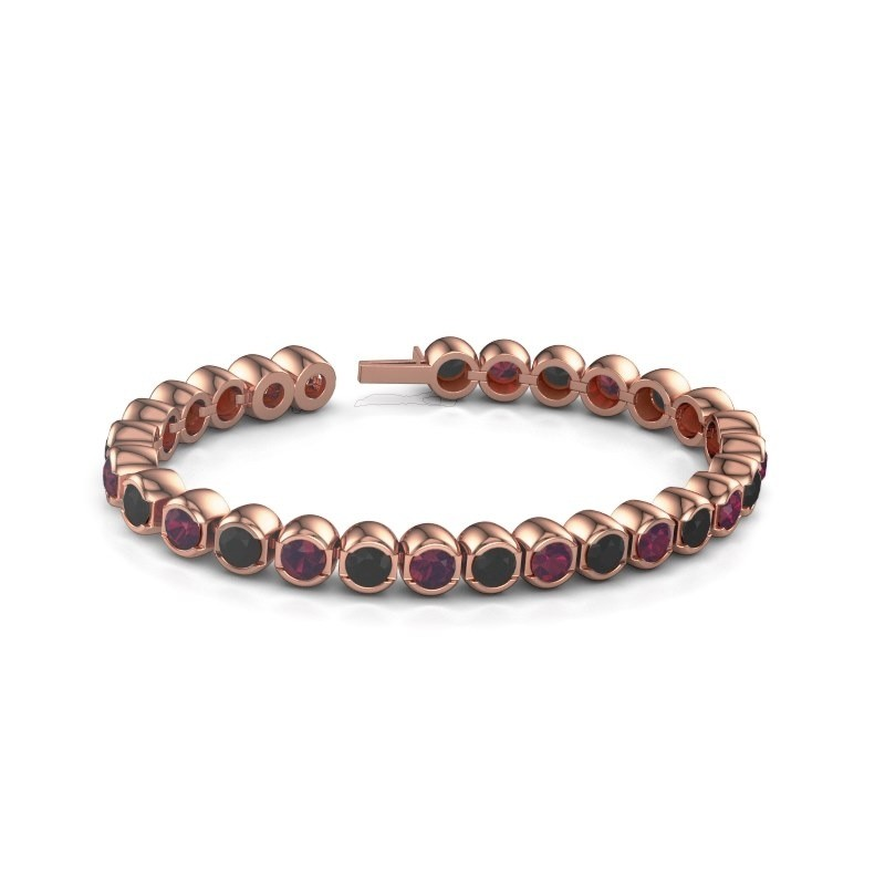 Tennisarmband Delma 375 rosé goud rhodoliet 5 mm